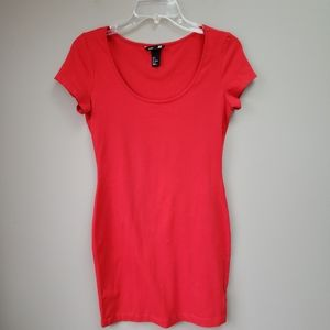 H&M Red Cotton Dress Small